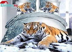 Are you a fan of 3d products? Look at this Buy it>>>http://urlend.com/eiA3iaY Live a better life, start with Beddinginn http://www.beddinginn.com/product/Tiger-Lying-In-Snow-Print-4-Piece-Cotton-Duvet-Cover-Sets-11246182.html