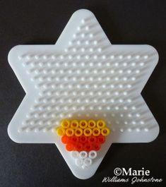 Candy Corn Halloween Perler Beads Pattern