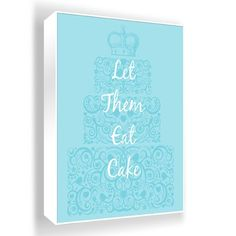 Let Them Eat Cake Wall Art from Joss and Main, would be cute in a kids playroom with other art!
