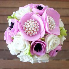 Non Flower Bouquets, Felt Flower Bouquet, Diy Bouquet, Flower Bouquet Wedding, Felt Flowers, Diy Flowers, Fabric Flowers, Paper Flowers, Handmade Felt