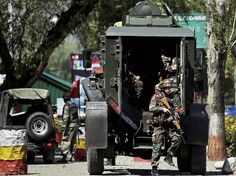 Army personnel in action inside the Army Brigade camp during a terror attack in…