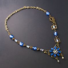 Unique Rabbit Jewellery - Blue Butterfly Bronze Necklace, $48.00 (http://www.uniquerabbitjewellery.com.au/blue-butterfly-bronze-necklace/)