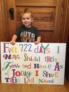 Adoption from foster care ...adoption day sign idea