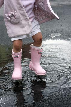 light pink rain boots.