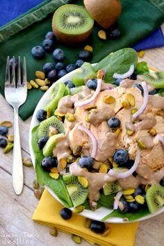 Pistachio Spinach Salad