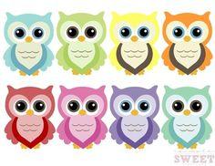 Colorful Owl Clip Art 1 Owl Theme Classroom, Classroom Birthday, Birthday Wall, Classroom Crafts, Owl Themed Parties, Owl Birthday Parties, Fish Banner, Colorful Owl, Owl Clip Art
