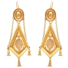 Rare & Ravishing Georgian Napoleonic #earrings France c.1800 #jewelry via Glorious Antique Jewelry on #1stdibs