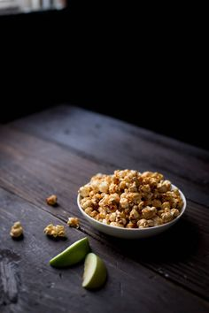 Caramel Apple Popcorn recipe at So Munch Love. Perfect snack for fall movie nights.