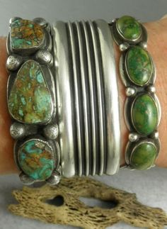 green turquoise stacking bracelets