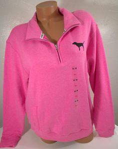 Pre-owned PINK By Victoria's Secret Half Zip Boyfriend Sweatshirt ...