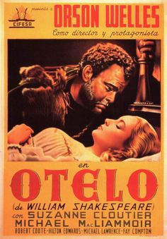 #Othello / #Otelo,1952, spanish movie poster two sheets.