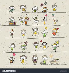 stock-vector-hand-drawing-cartoon-happy-kids-playing-149760860.jpg (1500×1600)