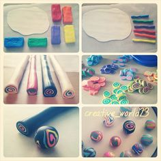 ~ How to make polymer clay beads ♥ ~ #diy #polymerclaybeads #polymerclay
