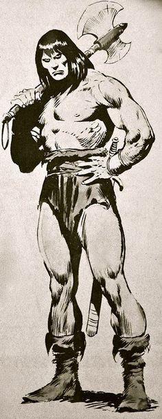 Conan, by John Buscema Comic Book Artists, Comic Book Characters, Comic Artist, Comic Character, Comic Books Art, Fantasy Characters, Marvel Comics, Conan Comics, Conan The Barbarian Comic