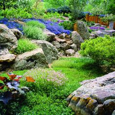 Colorado garden by Martin Hakubai Mosko using low-growing waterwise plants.  Gorgeous!