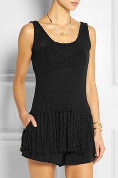 ZEUS+DIONE Iole fringed knitted cotton-blend top €355.00 http://www.net-a-porter.com/products/516635