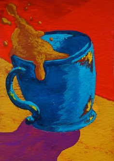 The Morning Cup of Coffee 137 ARTIST TRADING CARDS by MikeKrausArt