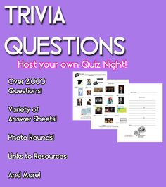 Trivia Questions Host Your Own Trivia Night by ZanzibarLand
