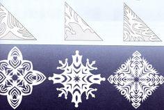 Papír hópehely sablonok Kreatív Mánia | Kézműves blog