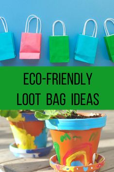 Loot bags are often comprised of a lot of single use plastics, dollar store trinkets and junk food. Check out these 5 ways of making your loot bags more eco-friendly and more enjoyable for your kids at the link below. Kids Party Bags, Kids Party Tables, Kid Party Favors, Kids Bags, Birthday Crafts, Birthday Favors, Birthday Ideas, Babysitting Activities, Party Activities