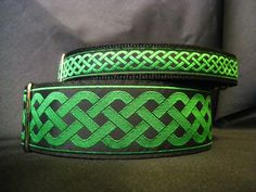 Celtic Knot Green or 2 Inch Martingale Dog Greyhound Collar for Any Breed - Free Custom Sizing Japanese Dog Breeds, Japanese Dogs, Irish Blessing, Celtic Knot, Knots, Collars, Blessed, Belt, Trending Outfits
