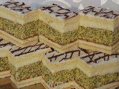 Rozi Erdélyi konyhája: Mézes mákos sütemény Poppy Cake, Sweets Recipes, Vanilla Cake, Cheesecake, Cooking, Food, Erika, Pies, Lemon Tarts