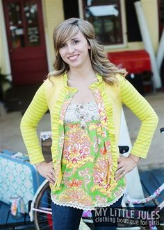 Women's Stella Cardi Sunny Mint Stripe