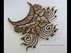 YouTube creative #moon #patch #henna #mehndi #design
