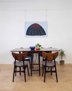 G Plan Mid Century 50's Extending Dining Table + 4 Butterfly Chairs