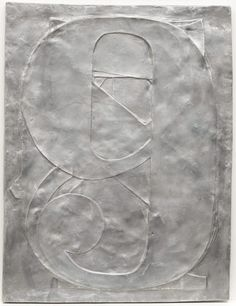 "Jasper Johns, 0 through 9, 1961 (cast 1966). Aluminum, 26 x 19 7/8 x 7/8"" (66 x 50.2 x 2.2 cm) (irregular), New York, MOMA"