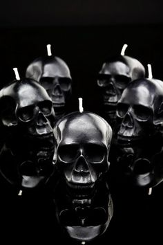 Skulls: D.L & Co. Mini Black #Skull Candles.