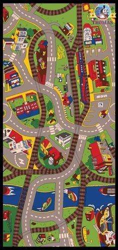 Pink Rug Thomas train and friends bedroom ride the train rug carpet play mat nursery furniture for playrooms