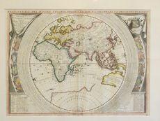 Allpress Antiques Furniture Melbourne Victoria Australia: Two hemisphere world maps by Coronelli 1691 -