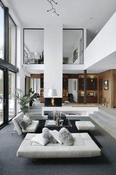 Cozy Living Rooms, Living Room Modern, Living Room Designs, Living Room Decor, Dream Home Design, Modern House Design, Home Interior Design, Interior Modern, Luxury Interior