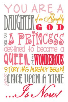 You are a daughter Subway art pink red yellow by Frolickingnightowl, via Flickr