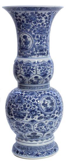 - CHINESE BLUE & WHITE KANGXI PERIOD PORCELAIN VASE More At FOSTERGINGER @ Pinterest