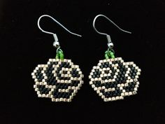 Native American Beaded Earrings BLACK