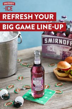 Grab some Smirnoff ICE Grape before hosting your Big Game watch party. It's a touchdown of delicious flavor that'll go perfect with those sliders and snacks.