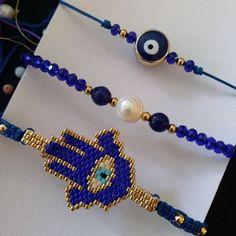 Padrísimo set de pulseras en mano hamsa miyuki, perla de río, chapa de oro y piedra natural #accesorios #manohamsa #perladerio #ojitoturco #azulrey #accesorios #chapadeoro #miyuki #tendencias #modaartesanal