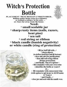 Witches Protection Bottle words of another source MY Opalraines Production