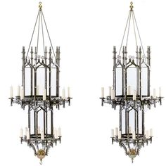 Pair of Henry VIII Style Chandeliers For Sale