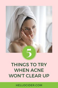 Learn 5 easy and unique tips to get rid of acne and achieve clear, healthy-looking skin. These tips are easy life hacks that will help you get rid of acne fast and without the harsh chemicals. natural acne remedies | skincare routine acne | how to clear acne Acv For Acne, Acv For Skin, Vinegar For Acne, Rosacea Remedies, Natural Acne Remedies, Body Acne, Acne Skin, Clear Skin Tips, Acne Solutions
