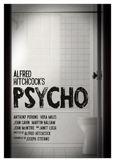 •10% DISCOUNT PIN10 •Movie poster Hitchcock's 'Psycho' Limited edition by Kinographics