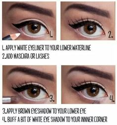 Pinup eyes that pop! eye makeup #tutorials and how to make your eyes look BIGGER with this #eyemakeup trick.