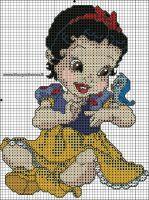 BABY BIANCANEVE SCHEMA PUNTO CROCE by syra1974
