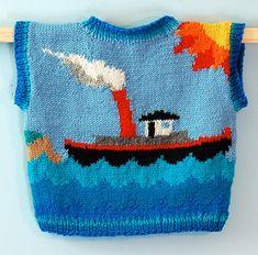 Knitting Pattern: Lighthouse Vest Size One Year