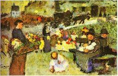Pablo Picasso, flower seller -1901 on ArtStack #pablo-picasso #art