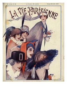 Giclee Print: La Vie Parisienne, Magazine Cover, France, 1915 : 24x18in