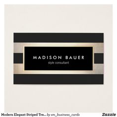 Modern Chic Striped Black and FAUX Gold Foil 2 Double-Sided Standard Business Cards (Pack Of Fashion Business Cards, Makeup Artist Business Cards, Modern Business Cards, Business Card Design, Creative Business, Business Ideas, Bussiness Card, Artist Branding, Ideas Geniales