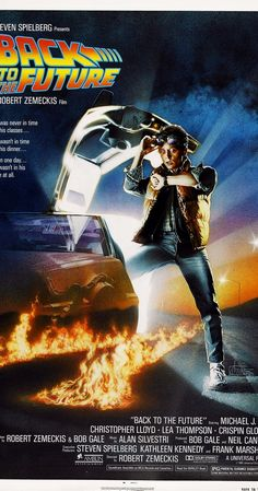 Directed by Robert Zemeckis.  With Michael J. Fox, Christopher Lloyd, Lea Thompson, Crispin Glover. A young man is accidentally sent 30 years into the past in a time-traveling DeLorean invented by his friend, Dr. Emmett Brown, and must make sure his high-school-age parents unite in order to save his own existence.
